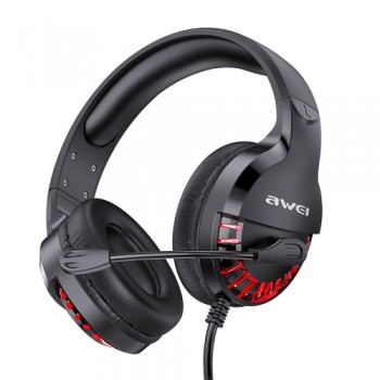AWEI ES-770i Adjustable E-sports Gaming Headset with Mic(Black)