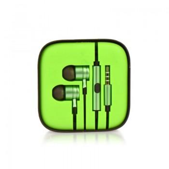 Ακουστικά Stereo Handsfree Με Ρυθμιστή Πράσινο (EN50332-2)