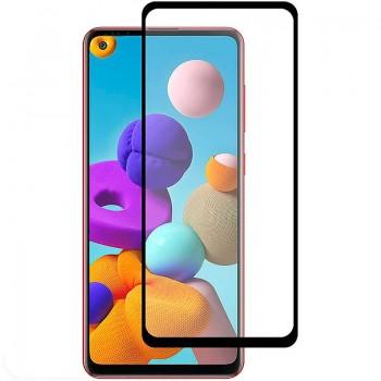 Oem Full Face Tempered glass / Αντιχαρακτικό Γυαλί Πλήρους Οθόνης 3D Για Samsung Galaxy A21s / A21 Μαύρη