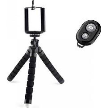 Ezra - 98550 Universal Bluetooth Selfie Stick Τριποδο Μαύρο