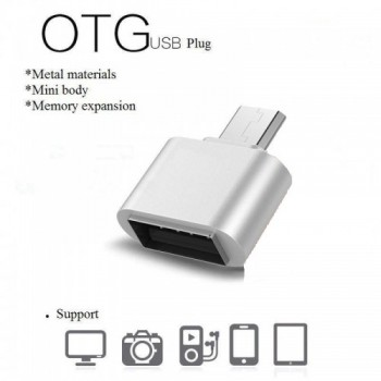 OEM micro USB σε USB OTG Αντάπτορας Ασημί