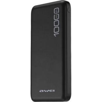 Awei P28K  Adaptive Charge Power Bank 10000 mAh - Μαύρο