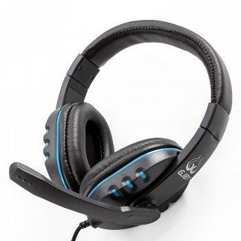Gjby Stereo Headphones G2 Ενσύρματα Ακουστικά με Υποδοχή 3.5mm και Μικρόφωνο Μαύρο - Μπλε