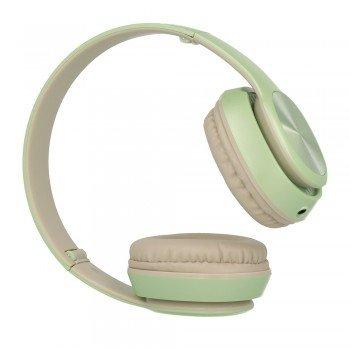Gjby Stereo Headphones GJ-31 Ενσύρματα Ακουστικά με Υποδοχή 3.5mm και Μικρόφωνο Πράσινο