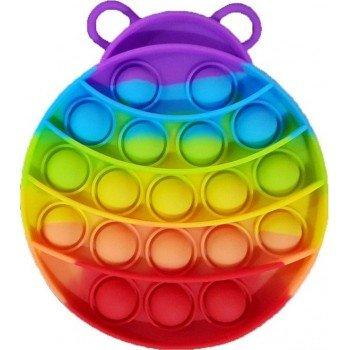 Anti Stress Fidget Bubble Pop Αγχολυτικό Οικογενειακο Παιχνίδι Σχέδιο Πασχαλίτσα Ουράνιο Τόξο