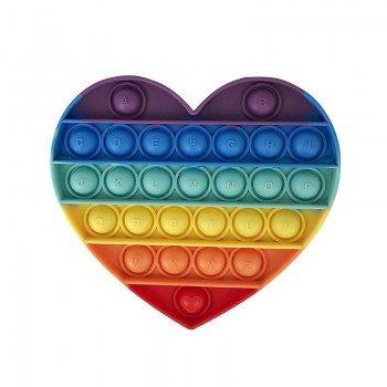 Anti Stress Fidget Bubble Pop Αγχολυτικό Οικογενειακο Παιχνίδι Καρδιά