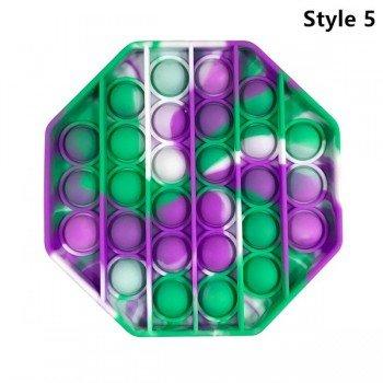 Anti Stress Fidget Bubble Pop Αγχολυτικό Οικογενειακο Παιχνίδι Πολύγονο Μωβ - Τιρκουάζ