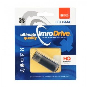 IMRO USB Flash Drive Usb 2.0 8GB Μαύρo