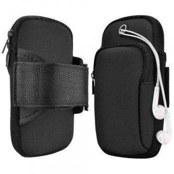 Running armband sports Αθλητική Θήκη μπράτσου για smartphones έως 6.5''- Μαύρο