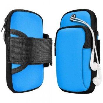 Running Armband Sports Αθλητική Θήκη Mπράτσου Για Smartphones έως 6.5'' - Μπλε