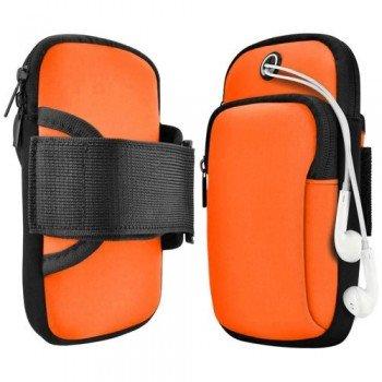 Running Armband Sports Αθλητική Θήκη Μπράτσου Για Smartphones έως 6.5'' - Πορτοκαλί
