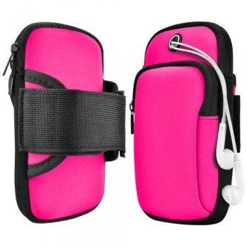 Running Armband Sports Αθλητική Θήκη Mπράτσου Για Smartphones έως 6.5'' - Ροζ