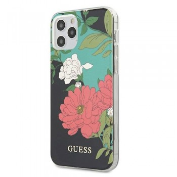 Guess  Apple iPhone 11 Pro Max  GUHCN65IMLFL01   black hard case N`1 Flower Collection