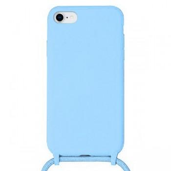 OEM Cord  Silicone Case Γαλάζια Θήκη Για Apple iPhone 7 / 8 / Se 2020 Με Λουράκι Γαλάζιο
