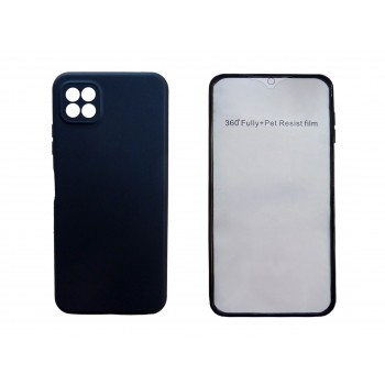 Oem Θήκη 360° Για Samsung Galaxy A22 5G Full Cover Σκούρο Μπλε