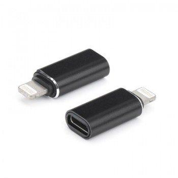 OEM Lightning male σε Type C USB female Μαύρος