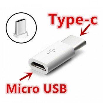 OEM Αντάπτορας μετατροπέας Micro USB to Type-C Άσπρο