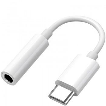 OEM Aντάπτορας Type C Male Σε 3.5mm Female Headphone Jack Άσπρο