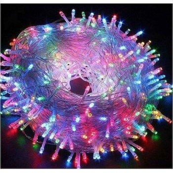 100 Λαμπάκια LED πολύχρωμα με Προγράμματα Σειρά Άσπρο Καλώδιο Ρεύματος 8m T001
