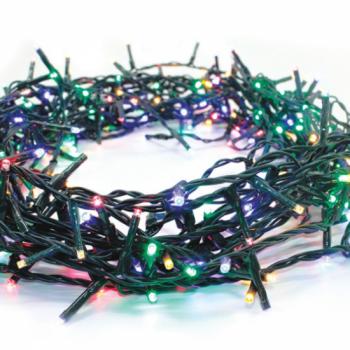 100 Λαμπάκια LED πολύχρωμα με Προγράμματα Σειρά Πράσινο Καλώδιο Ρεύματος 8m T001