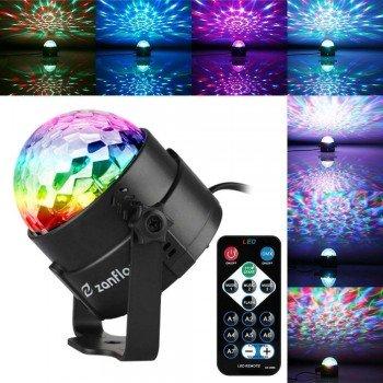 Oem Φωτιζόμενη Nτισκομπάλα Crystal Magic Ball Light LED RGB YB-689