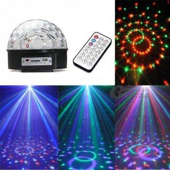 Oem Φωτιζόμενη Nτισκομπάλα Crystal Magic Ball Light Bluetooth LED RGB