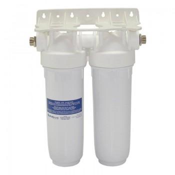 Φίλτρο Νερού DP 10'' Διπλό 1/2'' Κάτω Πάγκου Atlas Filtri Λευκό