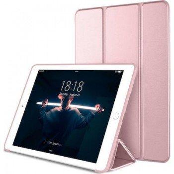 OEM Θήκη Βιβλίο - Σιλικόνη Flip Cover Για Apple iPad 9.7'' (2017-18) Χρυσή-Ροζ