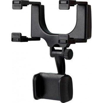 Βάση Στήριξης Κινητών, Κάμερας , GPS στον Καθρέφτη Του Αυτοκινήτου b4 Μαύρο Με Ρυθμιζόμενο Βραχίονα Άνοιγμα 5 - 9,4 cm