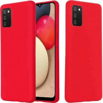 Oem Back Cover Silicone Soft 2.0mm Για Samsung Galaxy A02S Κόκκινο Box