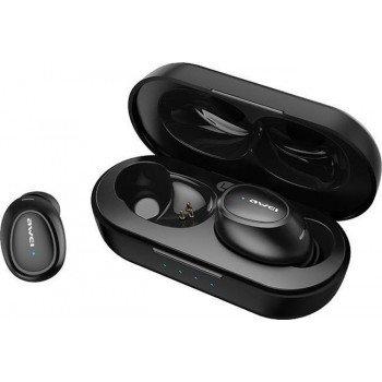 Awei T16 Ασύρματα Bluetooth Ακουστικά με Βάση Φόρτισης Μαύρο