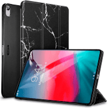 Oem Θήκη Βιβλίο - Σιλικόνη Flip Cover Για Apple Ipad Air 2 Μάρμαρο Μαύρη