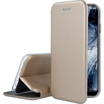 Oem Θήκη Βιβλίο Smart Magnet Elegance Για Samsung Galaxy S21 Plus 5G Χρυσό