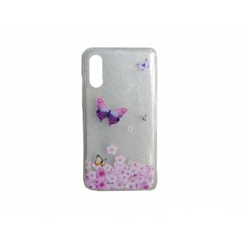 Oem Θήκη Σιλικόνης Για Samsung Galaxy A10 Με Σχέδιο Butterfly Ροζ