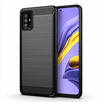 OEM Θήκη Σιλικόνης Carbon Για Samsung Galaxy A02s Μαύρο