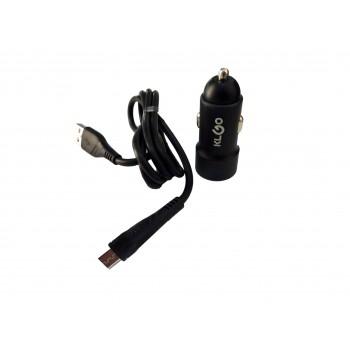 KLGO 2USB  Car Charger με καλώδιο  MICRO USB TG-621 Μαύρο