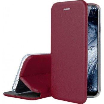 Oem Θήκη Βιβλίο Smart Magnet Elegance Για Samsung Galaxy S21 Plus 5G Μπορντό