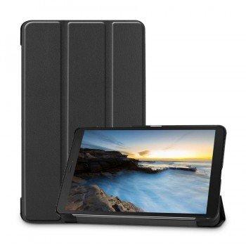 Oem Trifold Θήκη Βιβλίο με Σιλικόνη Flip Cover Για Samsung S6 Lite P610 Μαύρη