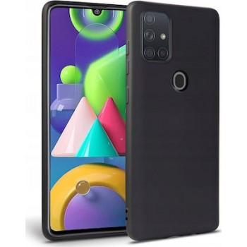 Oem Θήκη Σιλικόνης Matt Για Samsung Galaxy A21s Μαύρο