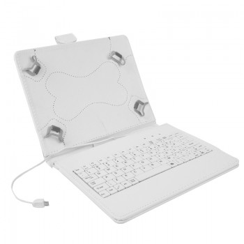 OEM Θήκη Universal Για Tablet 8'' keyboard Λευκή