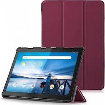"Oem Trifold Θήκη Βιβλίο με Σιλικόνη Flip Cover Για Samsung Galaxy Tab A 8"" T290/295/297 Μπορντό"