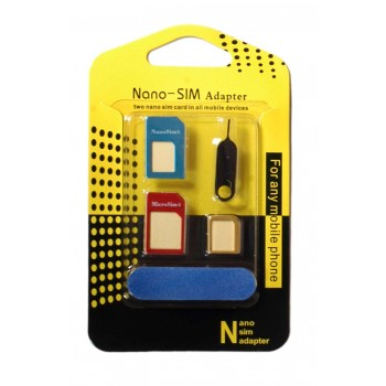 OEM Nano SIM | Micro SIM Adapter Set Μεταλλικά Πολύχρωμα