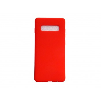 Soft Matt Case Gel TPU Cover 2.0mm Για Samsung Galaxy S10 Κόκκινο Box