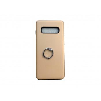 OEM Hard Back Cover Ring Stand Case Σκληρή Θήκη με Δαχτυλίδι Στήριξης Για Samsung Galaxy S10 Χρυσό
