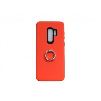 OEM Hard Back Cover Ring Stand Case Σκληρή Θήκη με Δαχτυλίδι Στήριξης Για Samsung Galaxy S9 Plus Πορτοκαλί