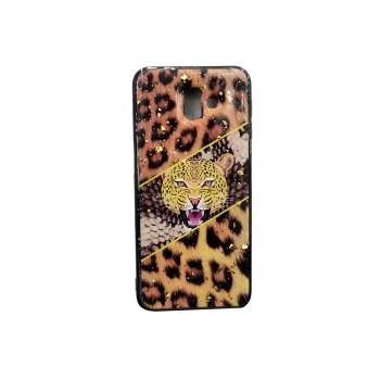 OEM Back Cover Σιλικόνης με Σχέδιο Για Samsung Galaxy A7 2018 Λεοπάρδαλη