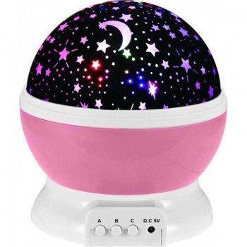 Star Master Περιστρεφόμενο φωτιστικό δωματίου / Dream Rotating Projection Lamp Pink