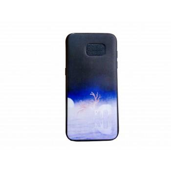 OEM Back Cover Σιλικόνης με Σχέδιο Για Samsung Galaxy J4 2018 Ταρανδος