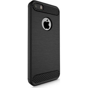OEM Θήκη Σιλικόνης Carbon Για Apple iPhone 5/5s/SE Μαύρη