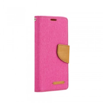 OEM Θήκη Βιβλίο Canvas Για Samsung Galaxy S21 Ultra 5G / S30 Ultra Ροζ Καφέ